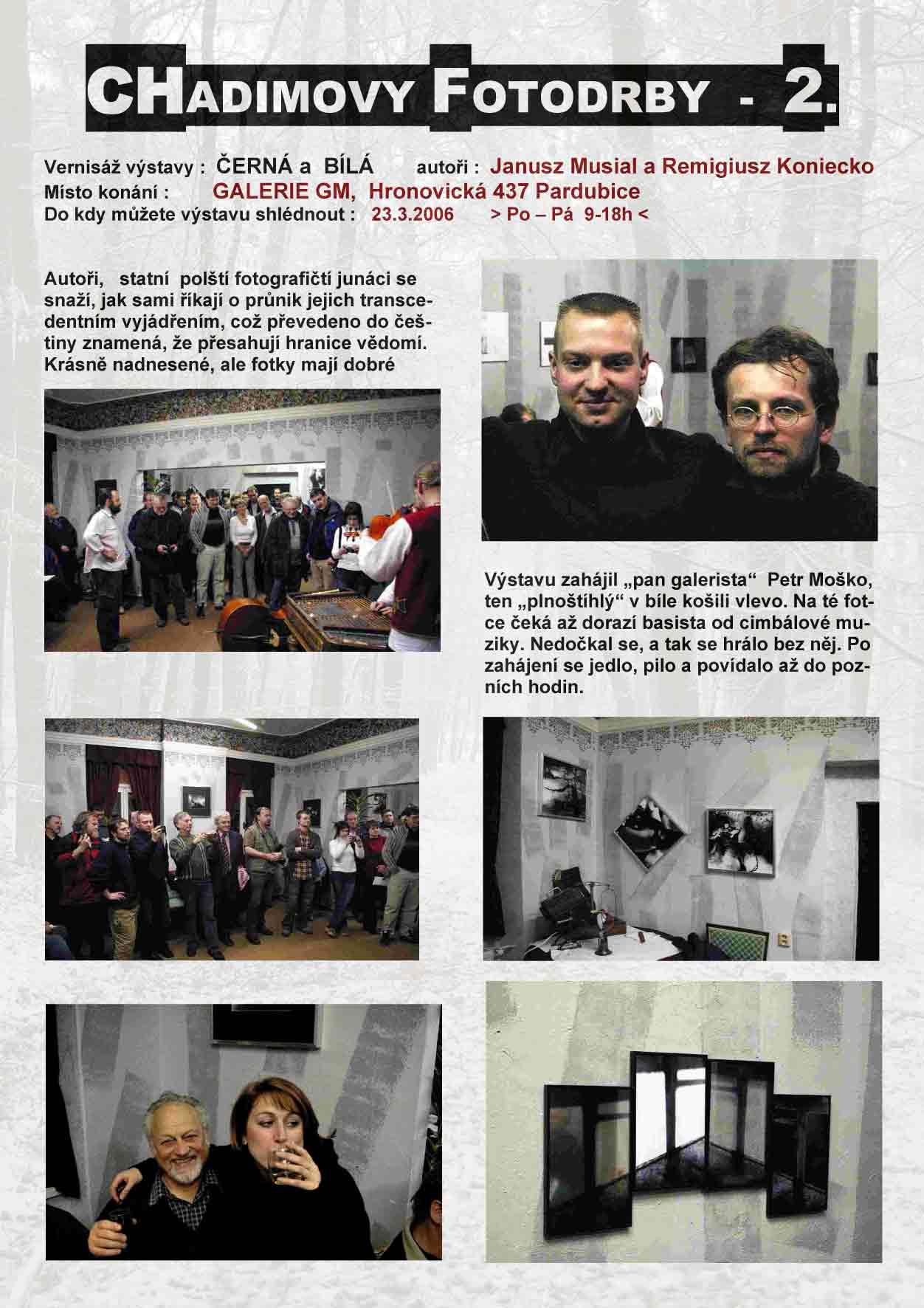 """Fotorevue 2 – Janusz Musial a Remigiusz Koniecko """"Černá a Bílá"""""""