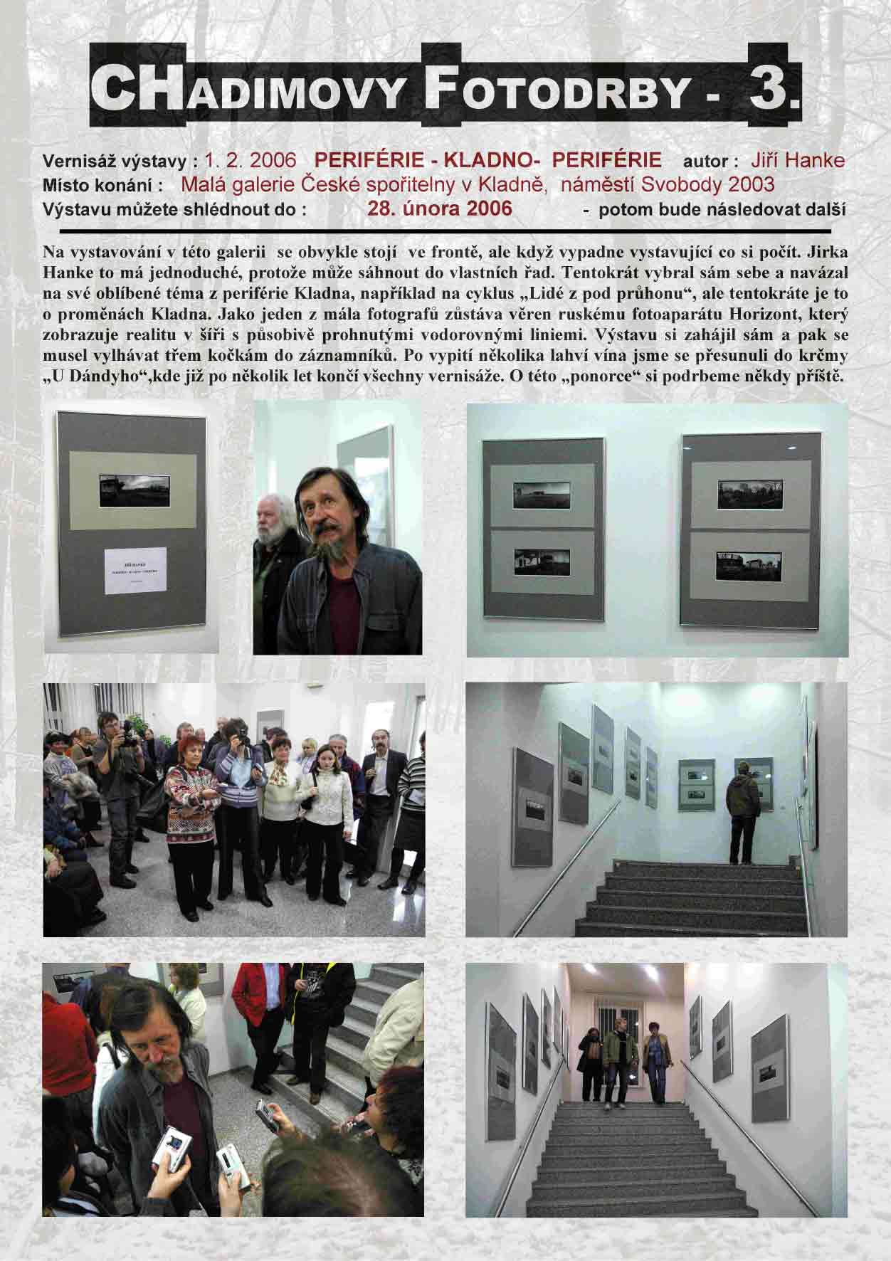 "Fotorevue 3 – Jiří Hanke ""Periférie – Kladno – Periférie"""