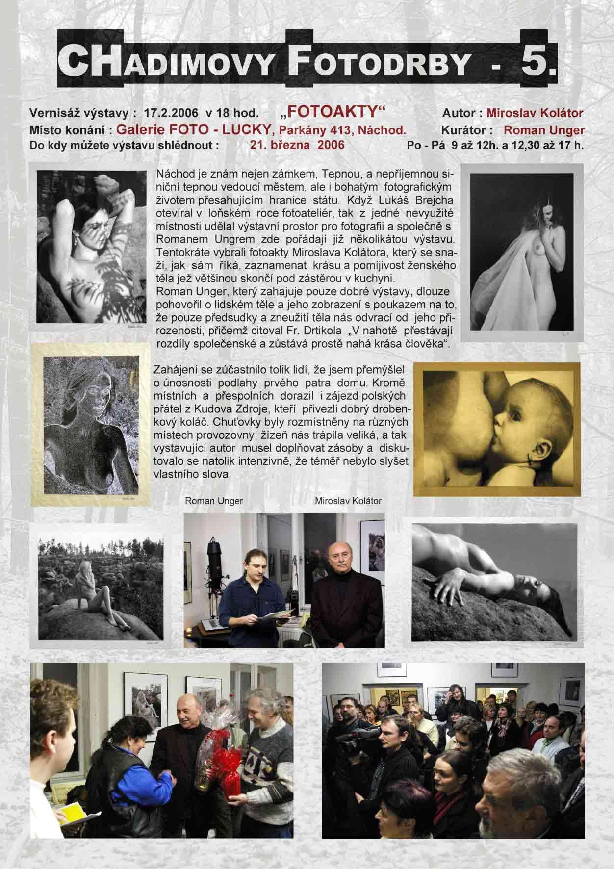 """Fotorevue 5 – Miroslav Kolátor """"Fotoakty"""""""