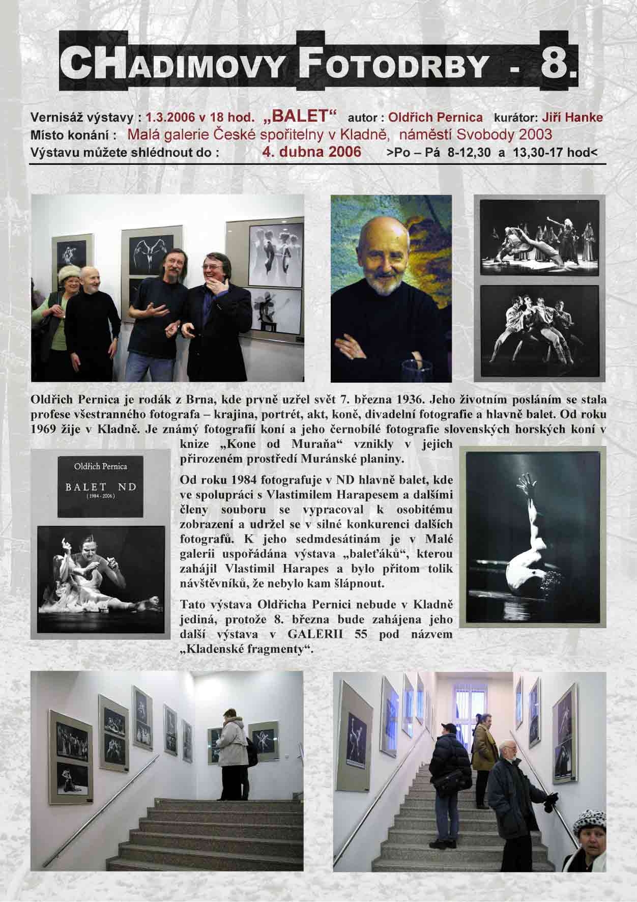 """Fotorevue 8 – Oldřich Pernica """"Balet"""""""