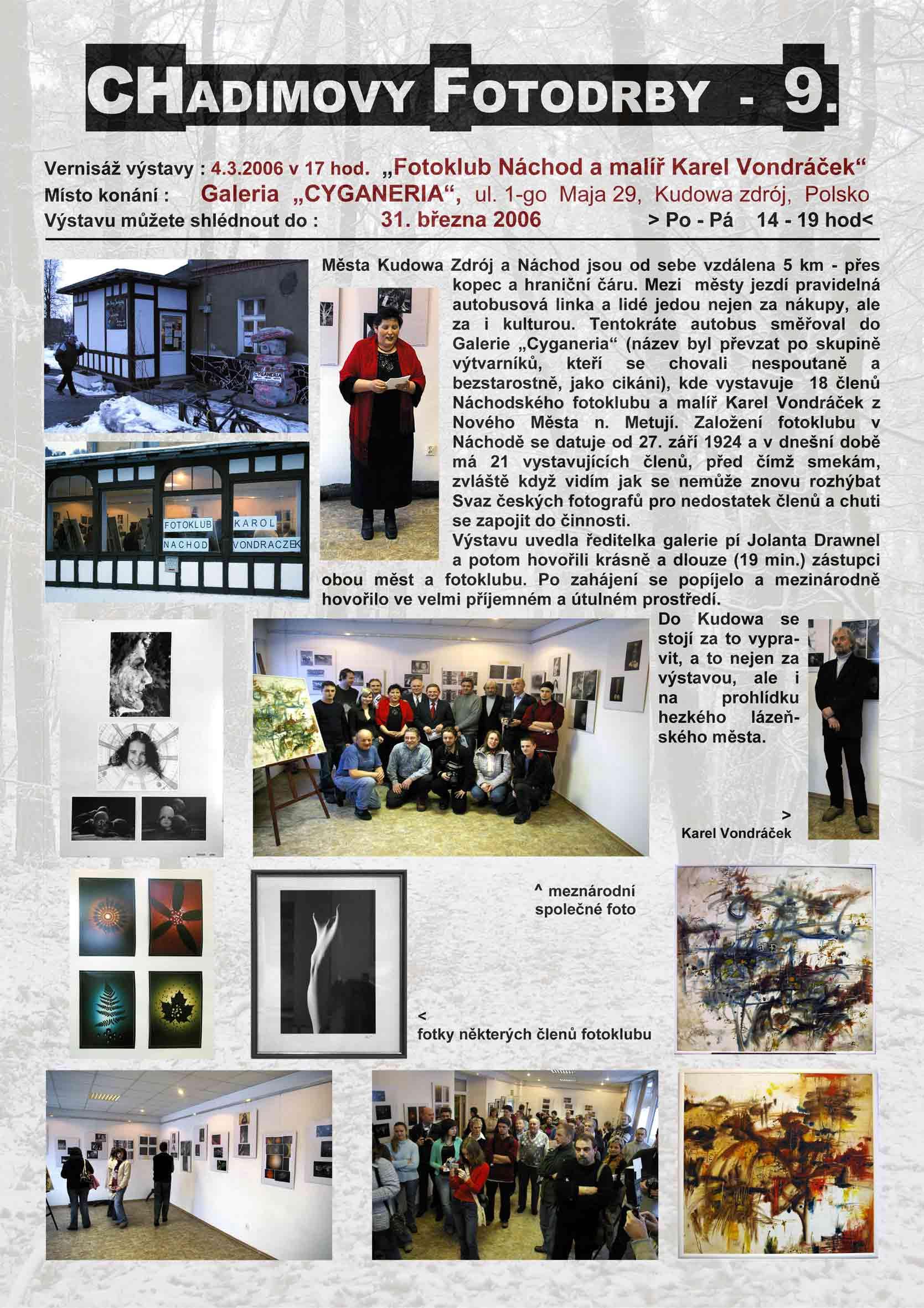 Fotorevue 9 – Fotoklub Náchod a malíř Karel Vondráček