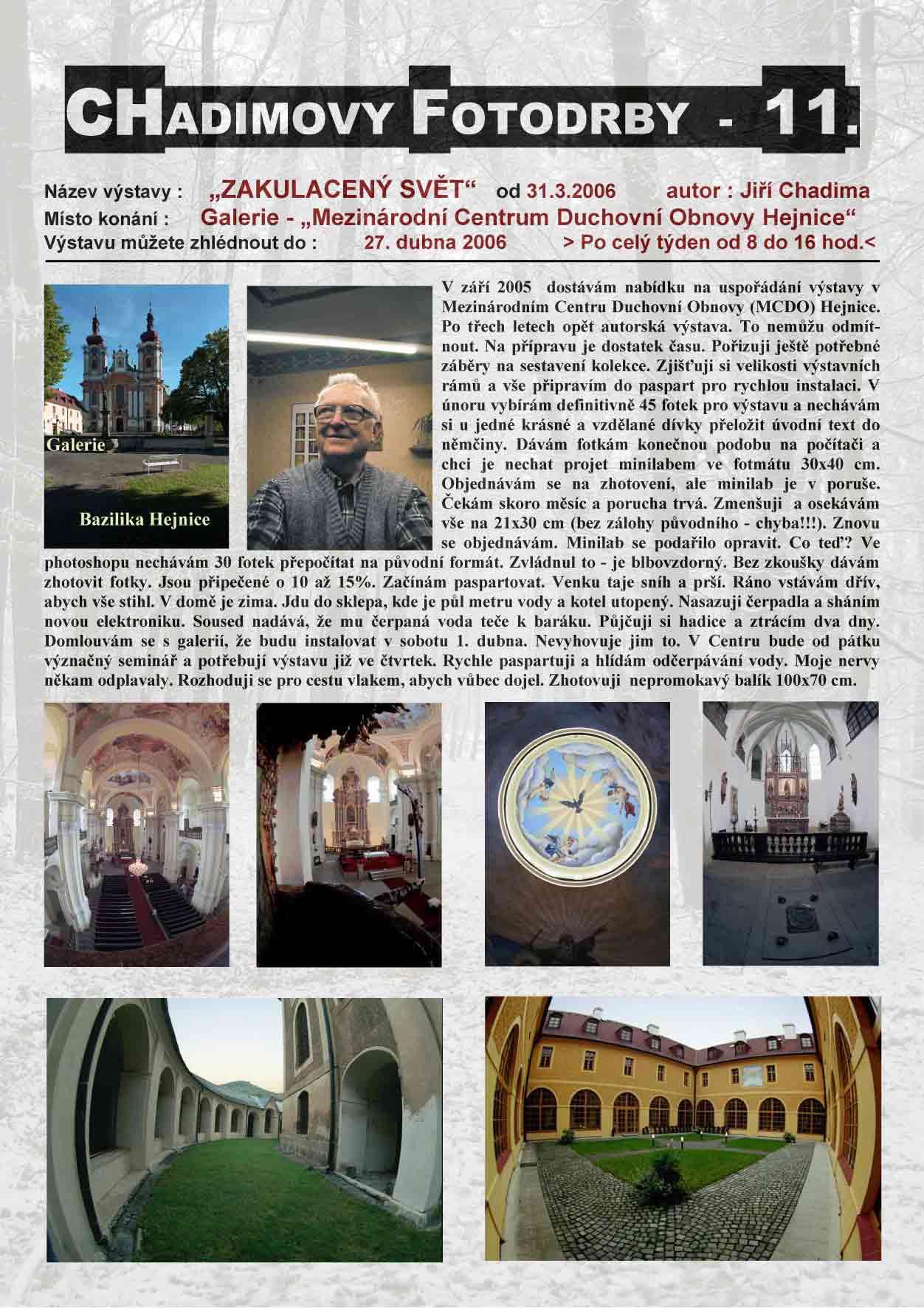 """Fotorevue 11 – Jiří Chadima """"Zakulacený svět"""""""