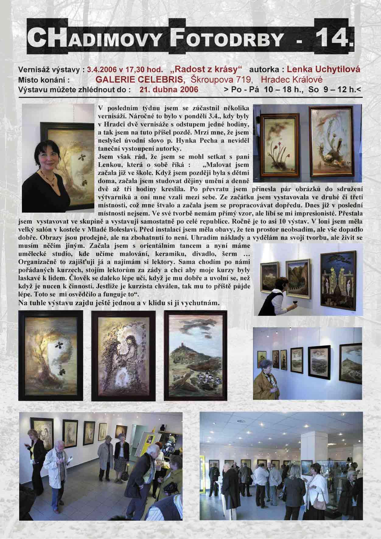 "Fotorevue 14 – Lenka Uchytilová ""Radost z krásy"""