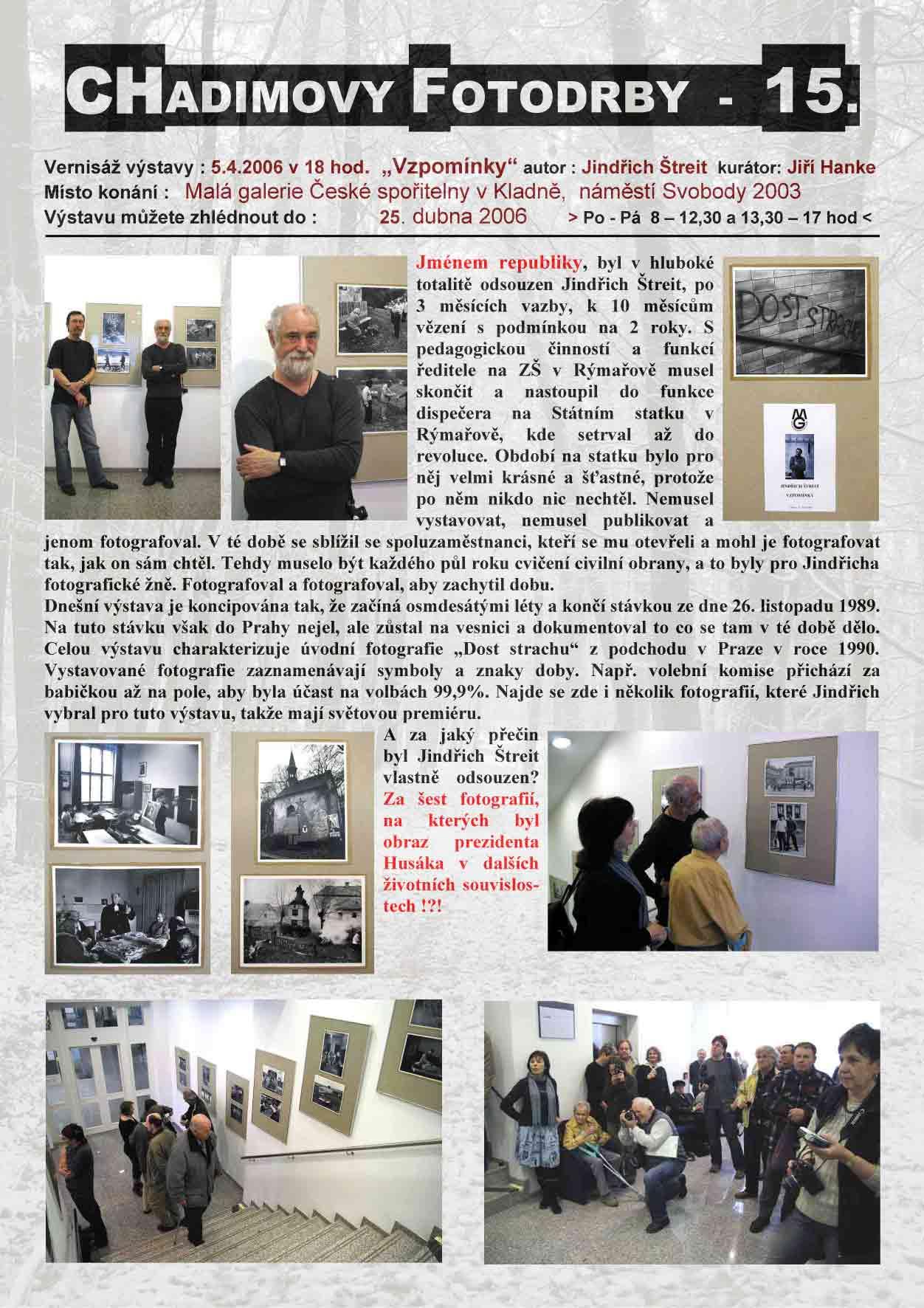 """Fotorevue 15 – Jindřich Štreit """"Vzpomínky"""""""