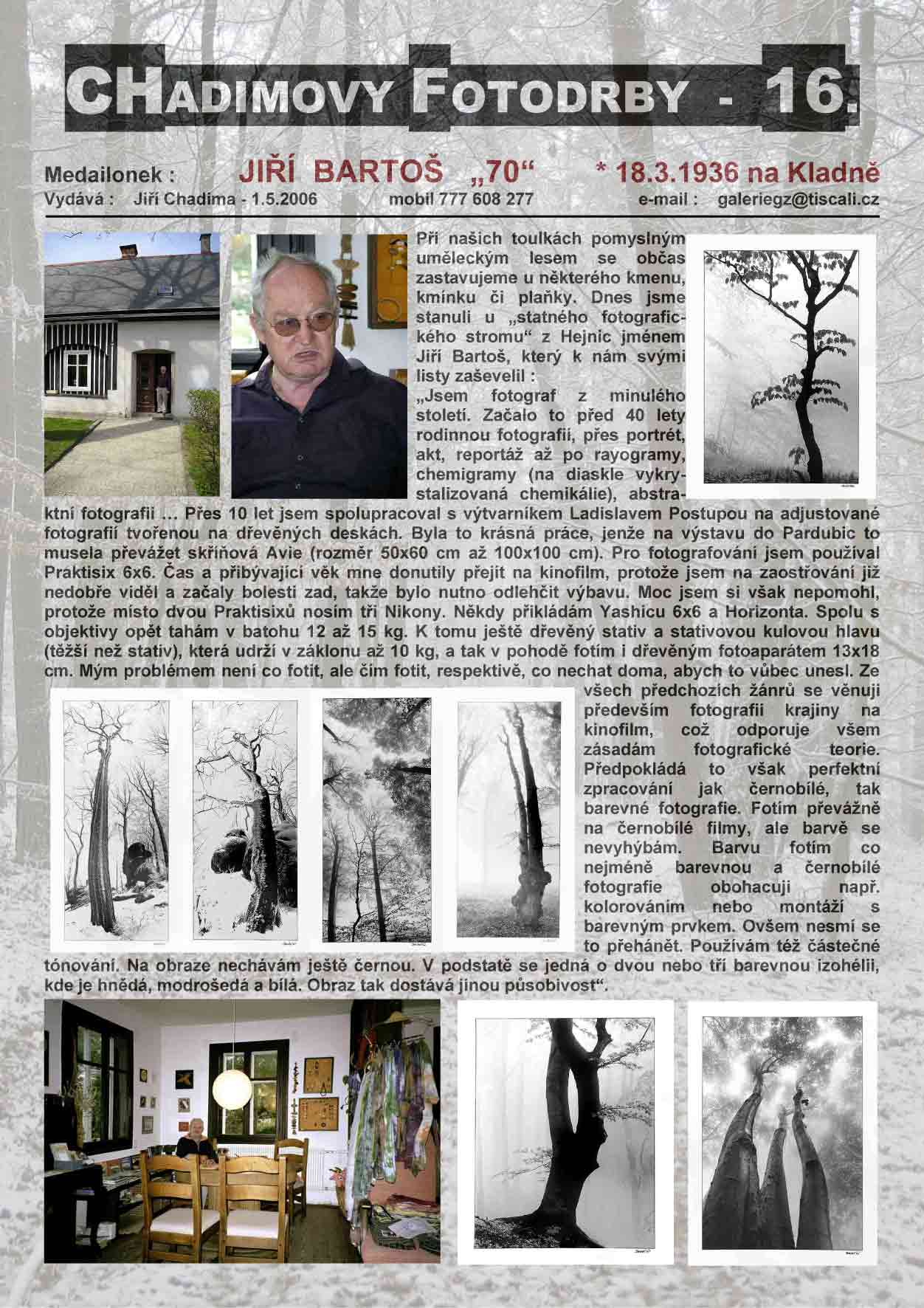 """Fotorevue 16 – Jiří Bartoš """"70"""""""