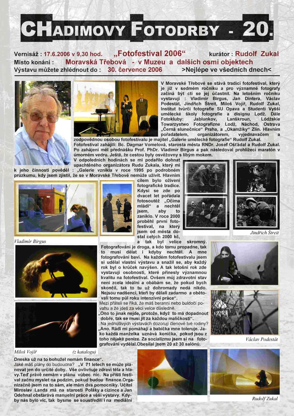 "Fotorevue 20 – ""Fotofestival 2006"""