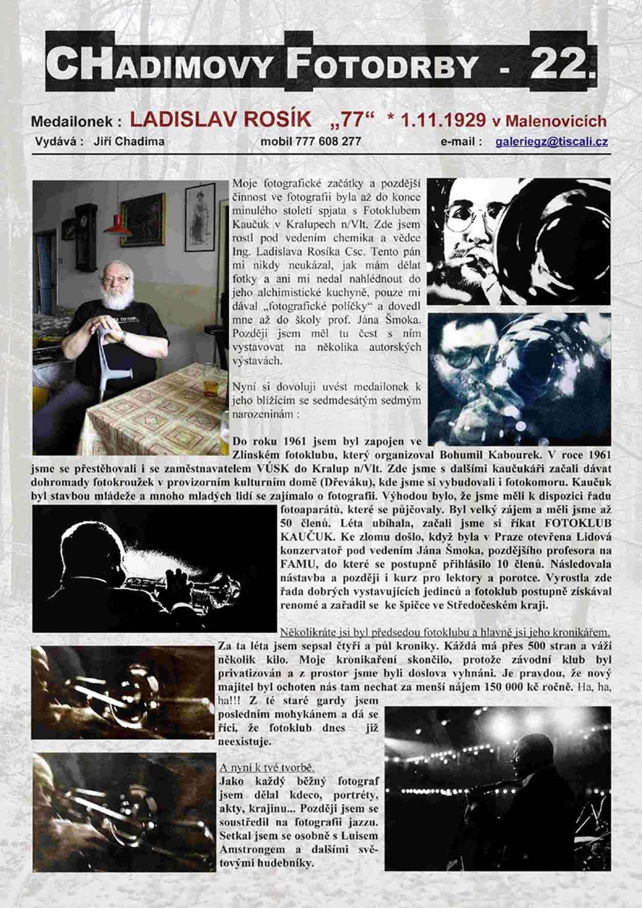"""Fotorevue 22 – Ladislav Rosík """"77"""""""