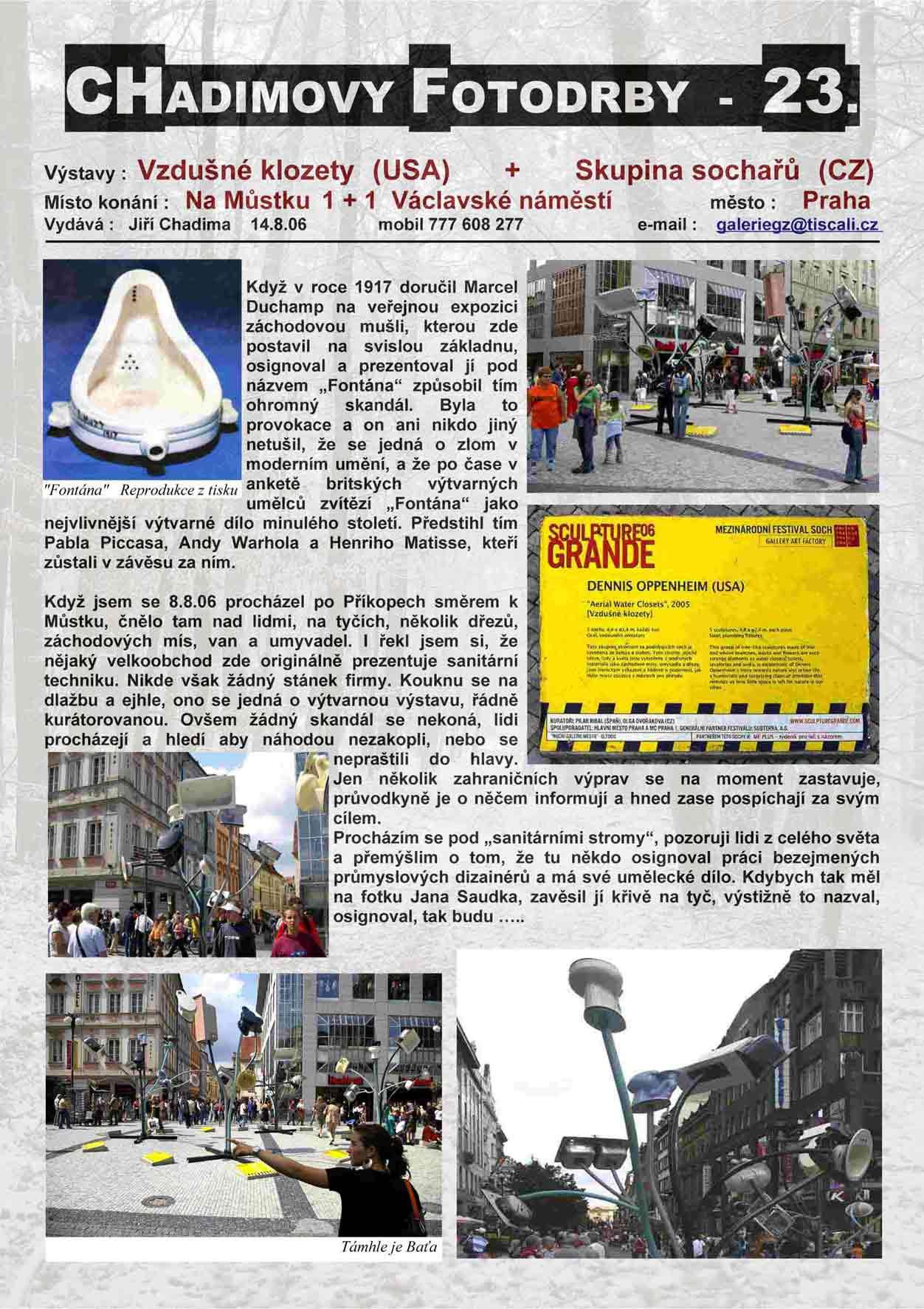 """Fotorevue 23 – Skupina Sochařů """"Vzdušné klozety"""" (USA)"""