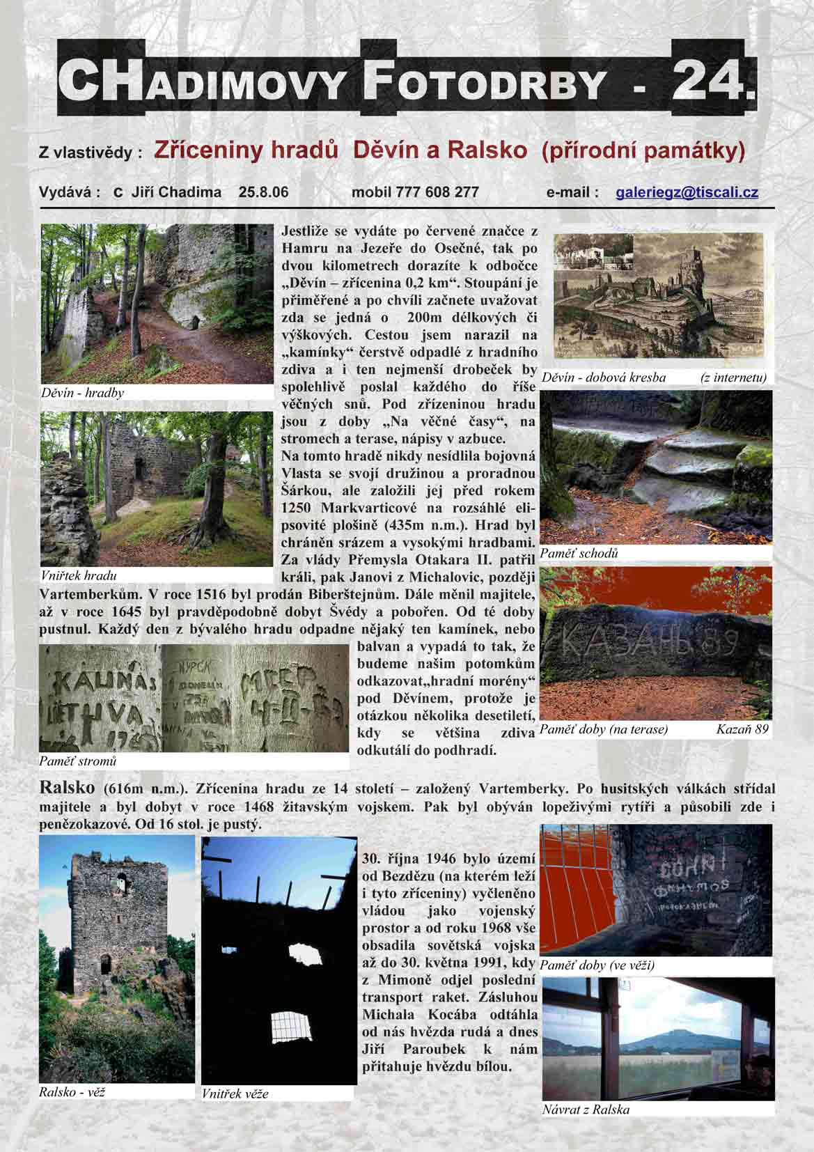 Fotorevue 24 – Zříceniny hradů Děvín a Ralsko