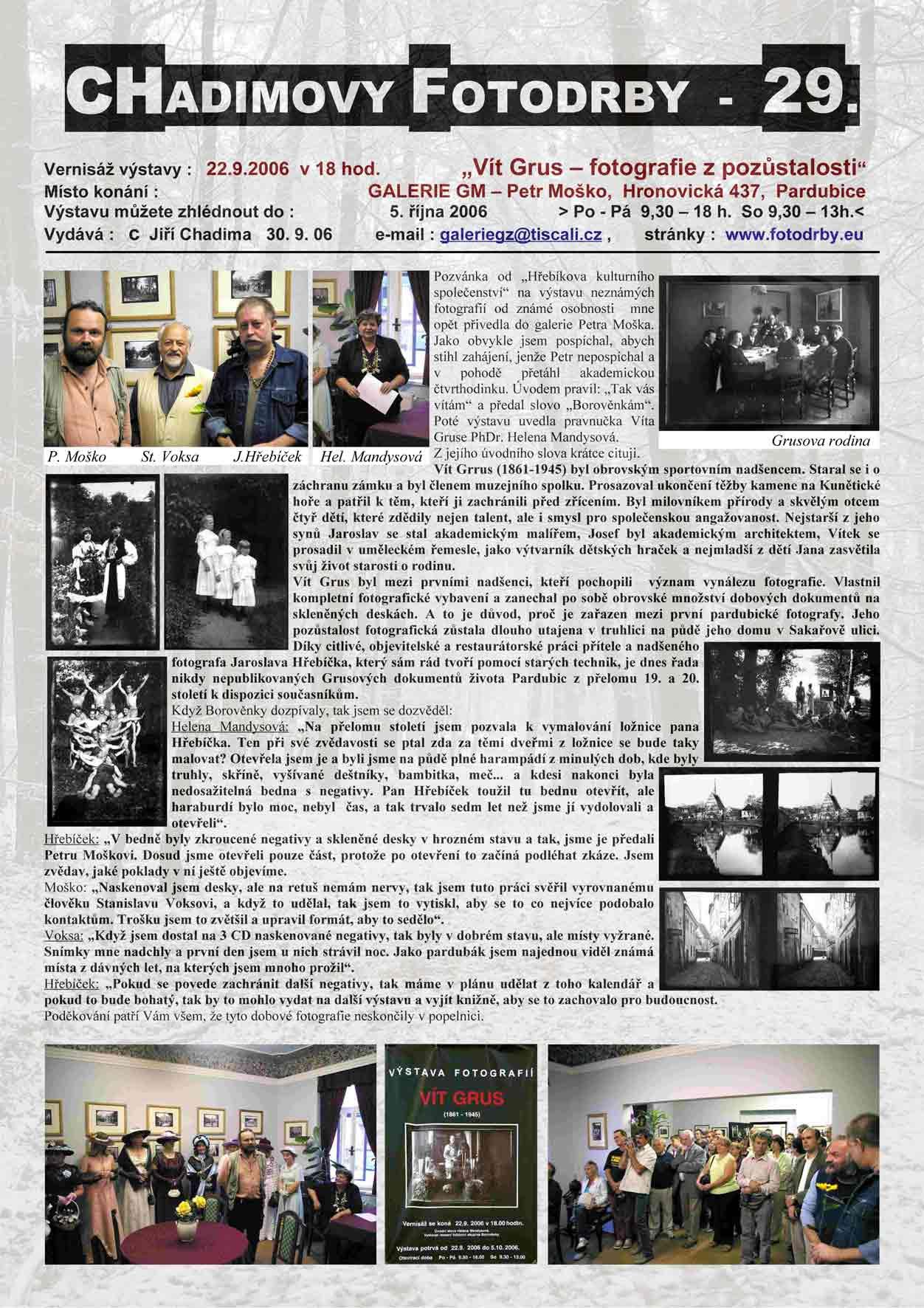 """Fotorevue 29 – """"Vít Grus – fotografie z pozůstalosti"""""""