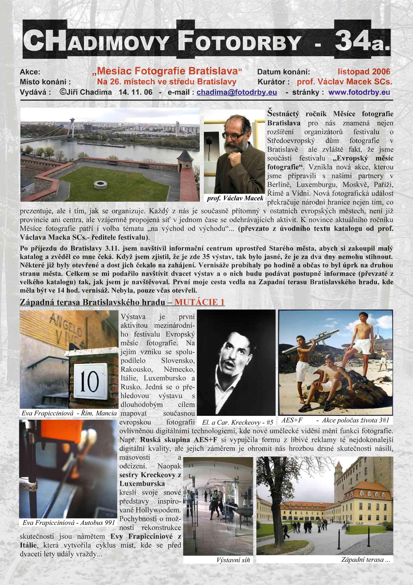"Fotorevue 34 – ""Mesiac Fotografie Bratislava"""