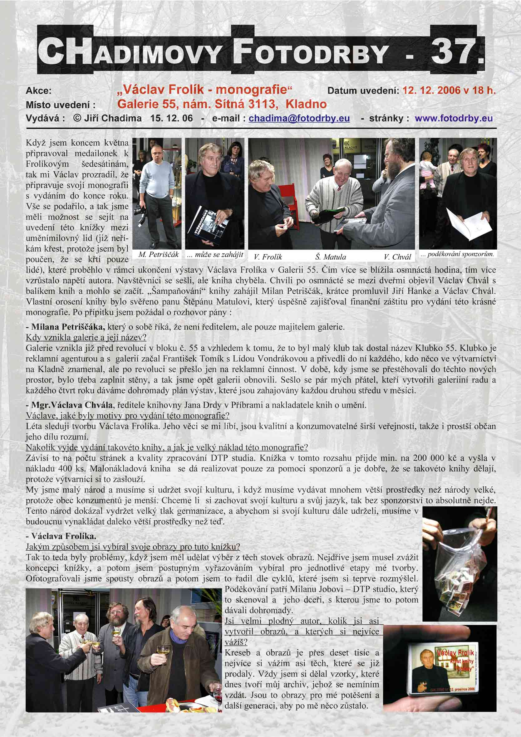 "Fotorevue 37 – Václav Frolík ""monografie"""