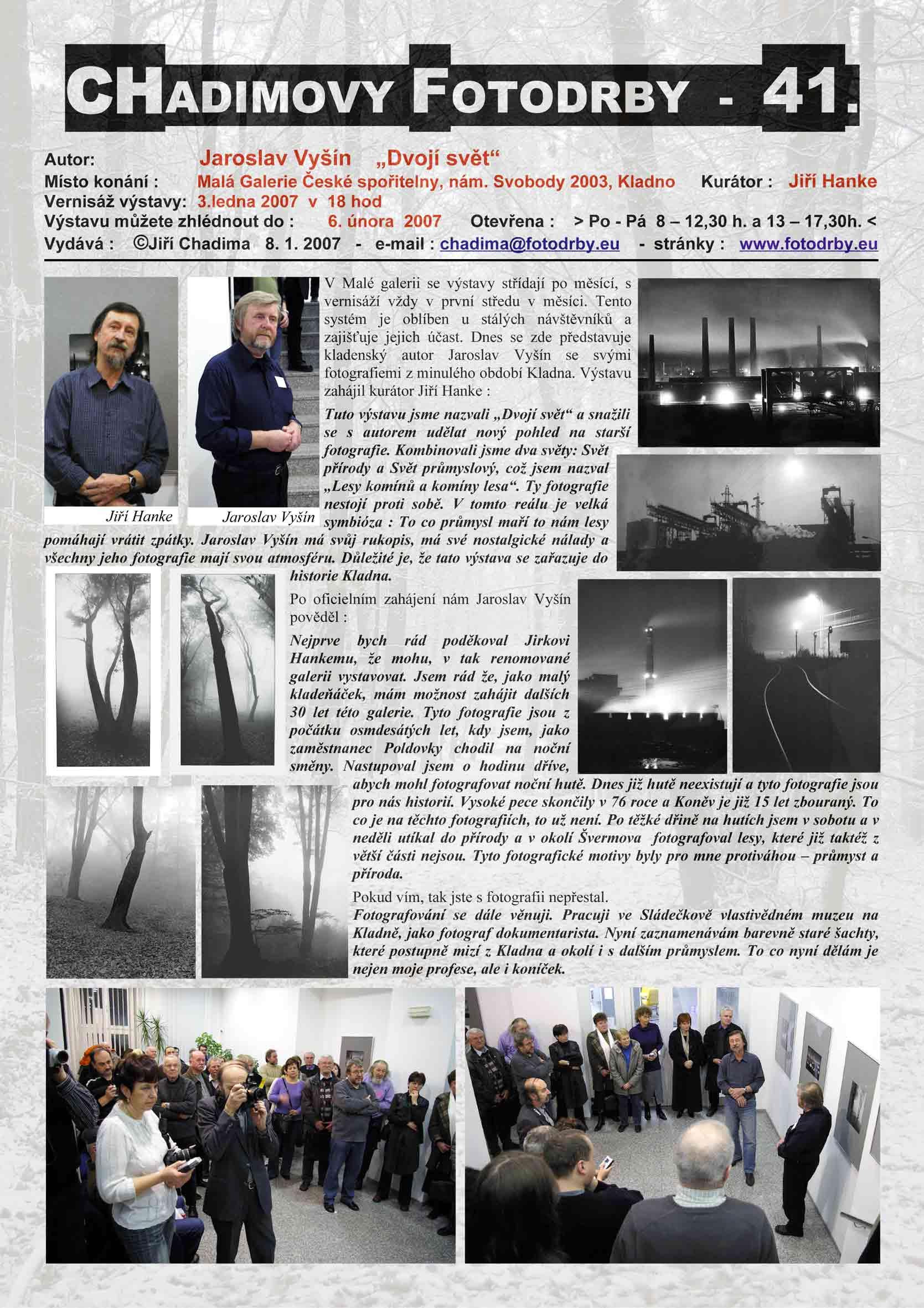 """Fotorevue 41 – Jaroslav Vyšín """"Dvojí svět"""""""