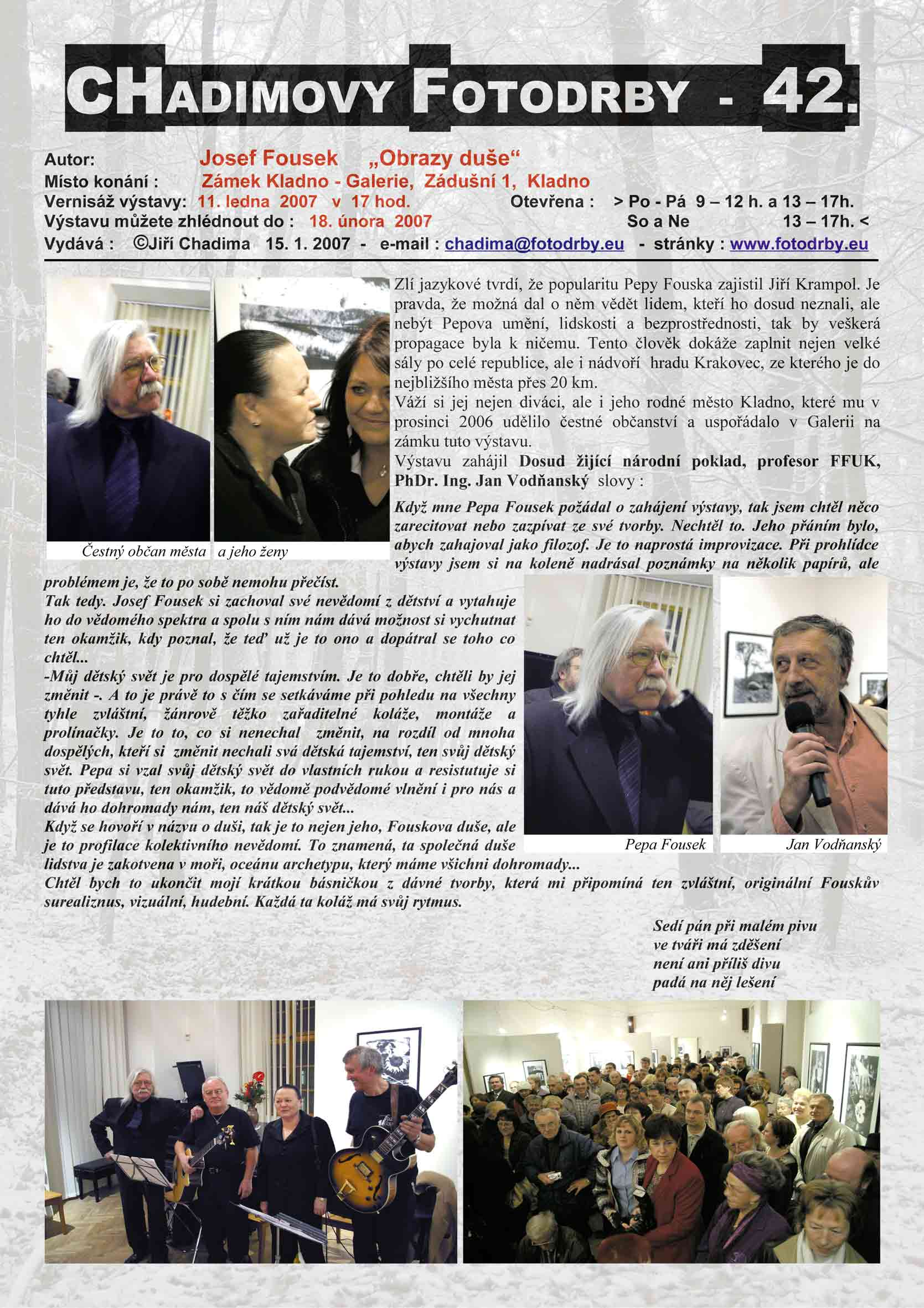 "Fotorevue 42 – Josef Fousek ""Obrazy duše"""
