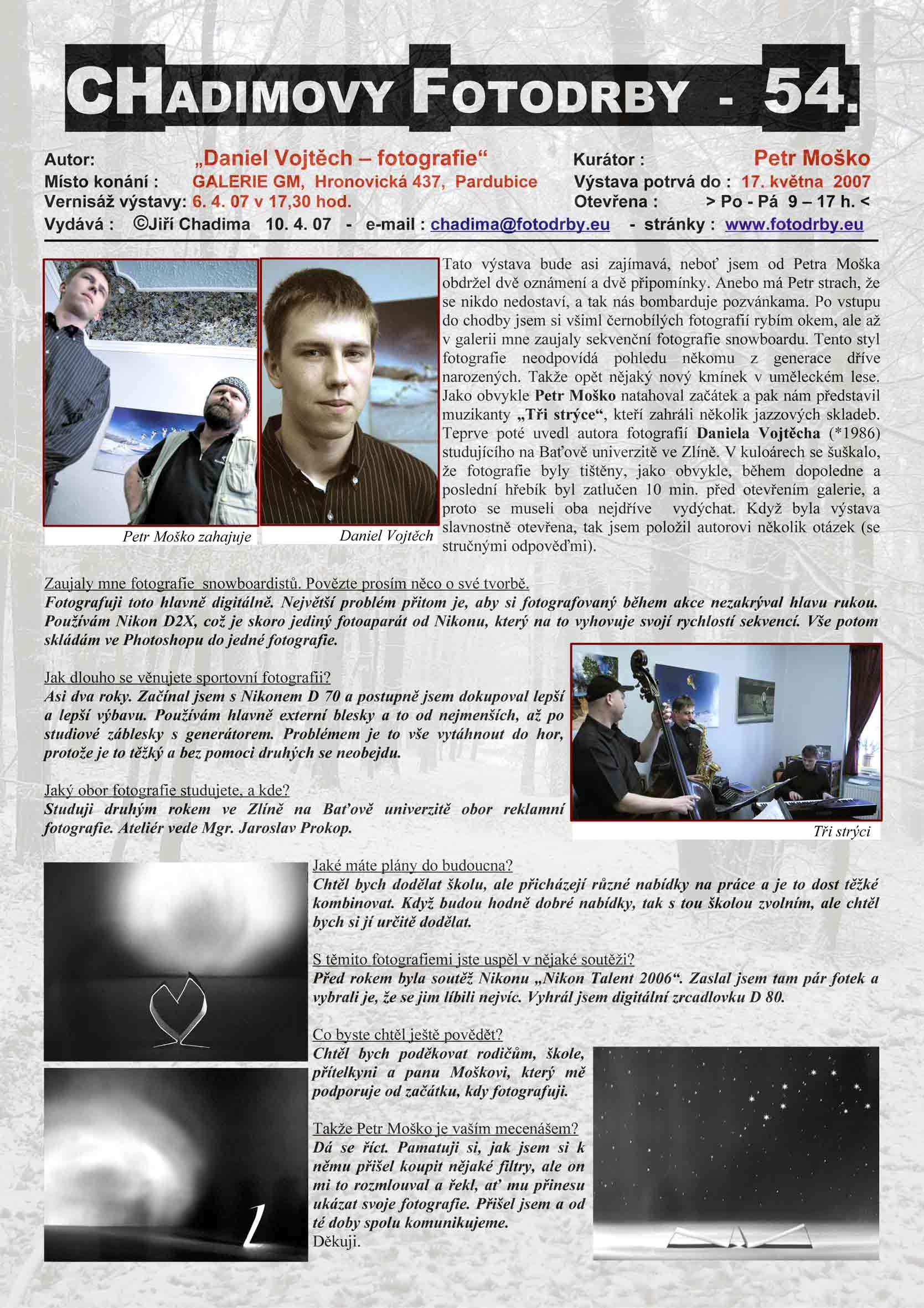 "Fotorevue 54 – Daniel Vojtěch ""fotografie"""