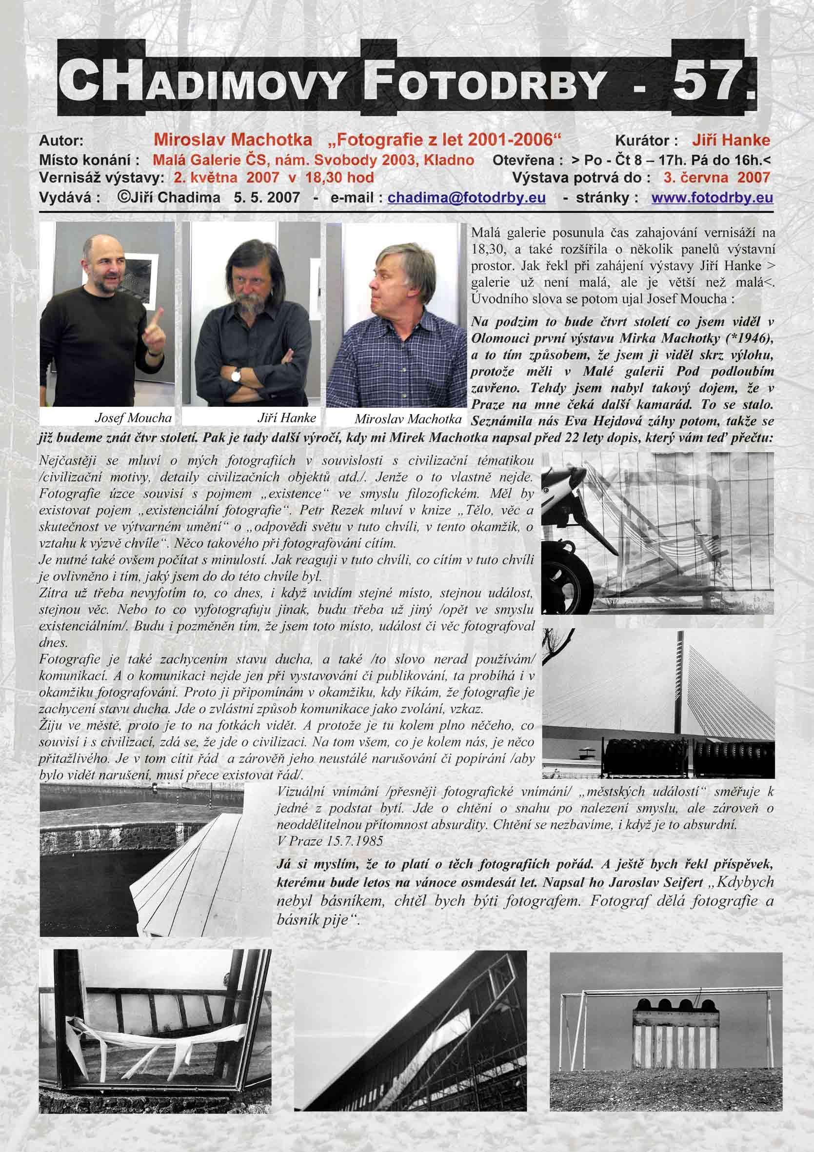 """Fotorevue 57 – Miroslav Machotka """"Fotografie z let 2001 – 2006"""""""