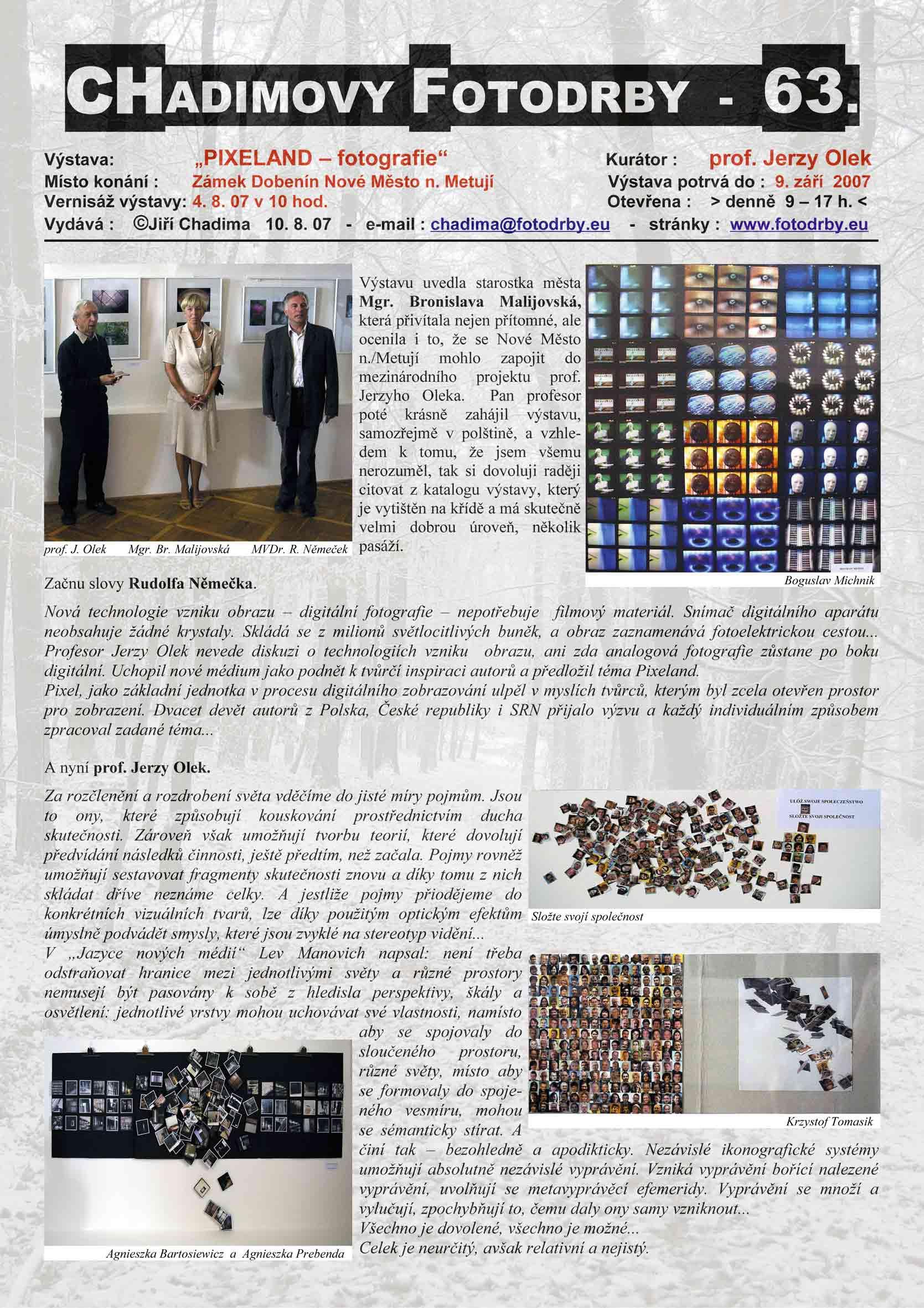 """Fotorevue 63 – """"Pixeland – fotografie"""""""
