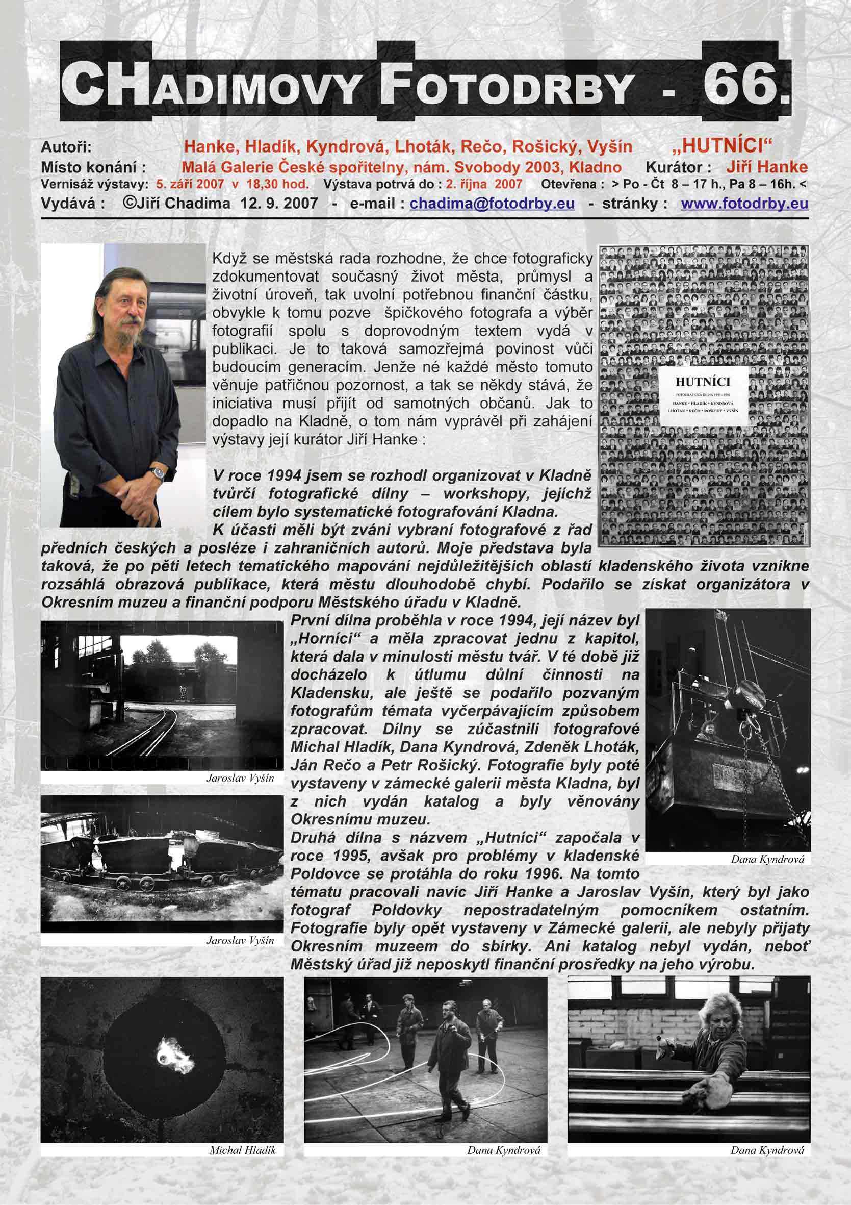 """Fotorevue 66 – Hanke, Hladík, Kyndrová, Lhoták, Rečo, Rošický, Vyšín """"Hutníci"""""""