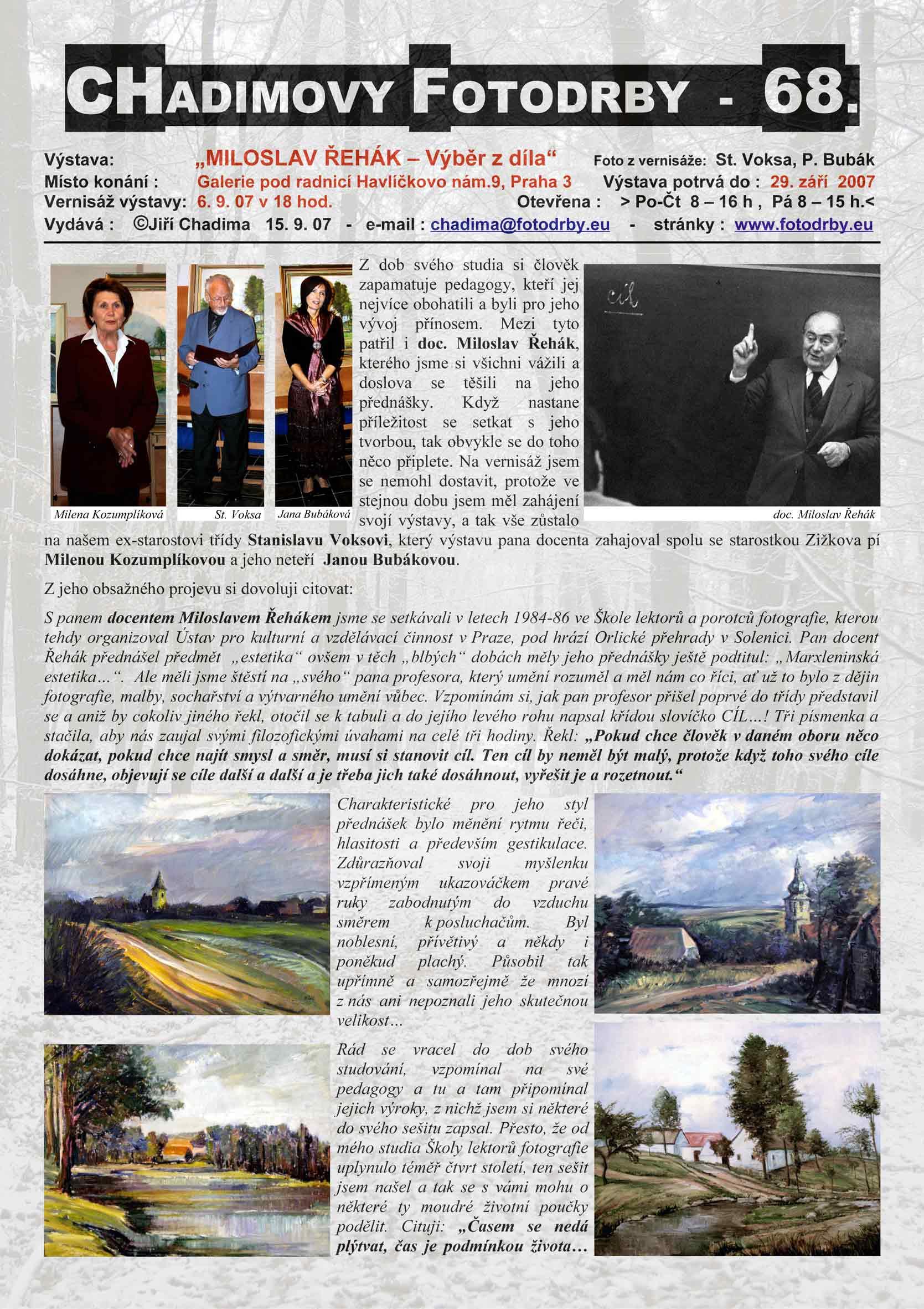 """Fotorevue 68 – Miroslav Řehák """"Výběr z díla"""""""