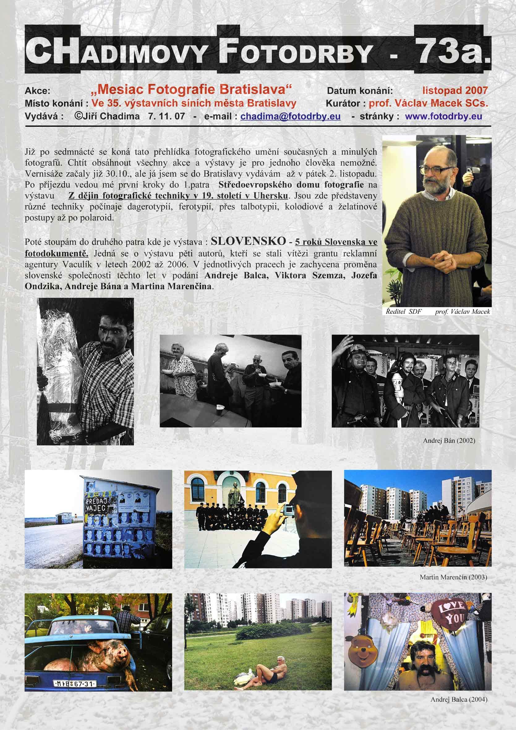 "Fotorevue 73 – ""Mesiac Fotografie Bratislava"""