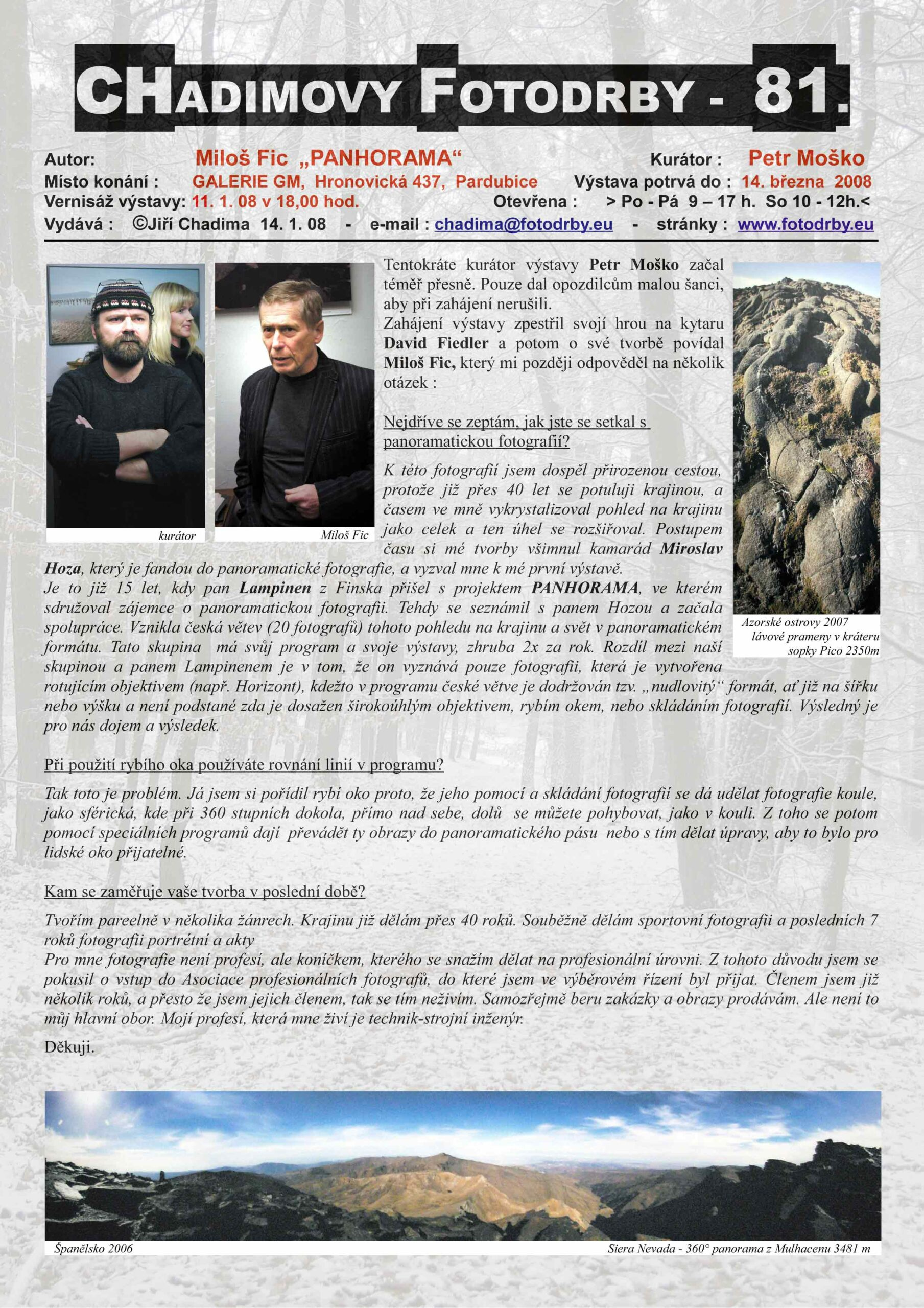 "Fotorevue 81 – Miloš Fic ""Panhorama"""