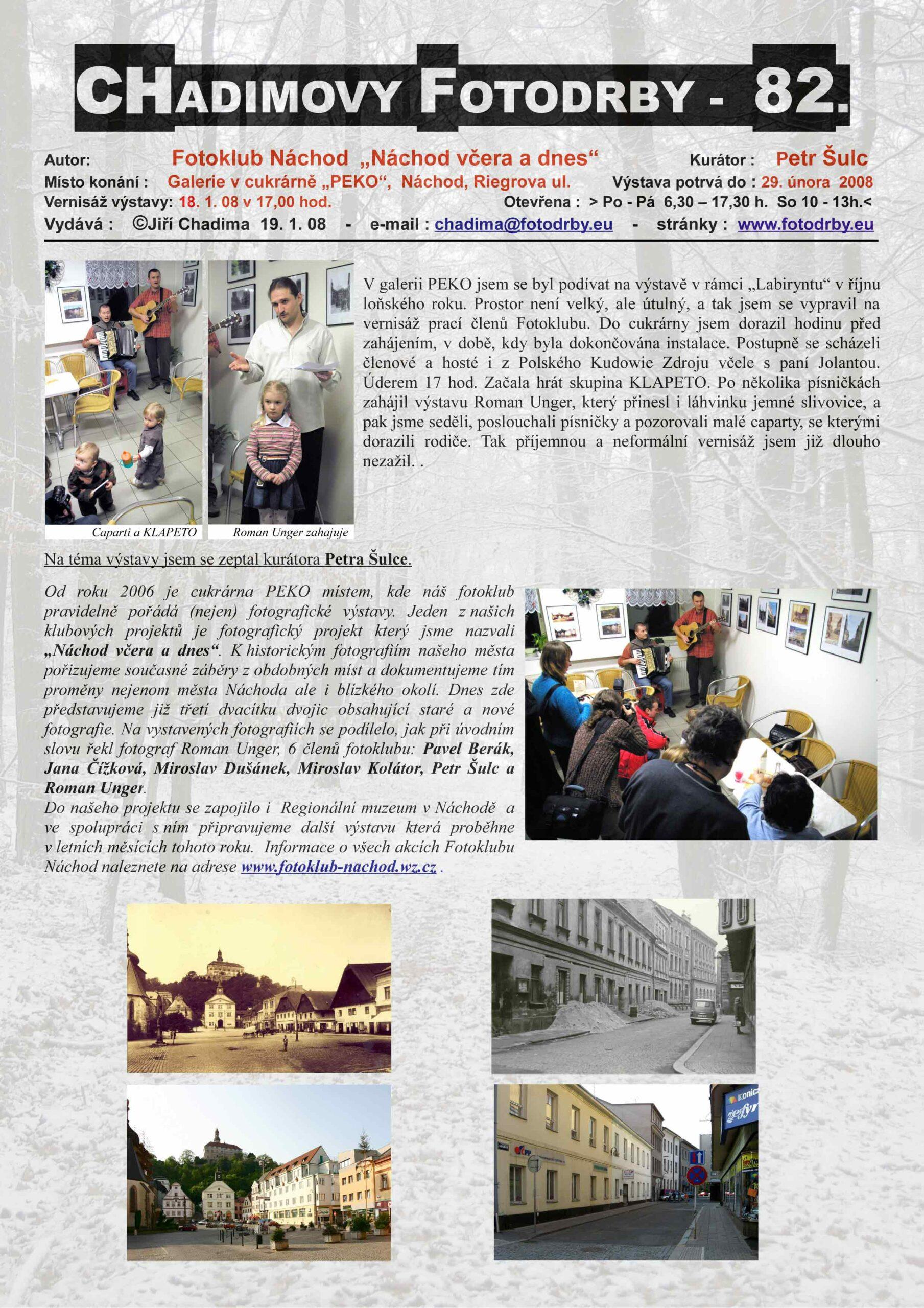 "Fotorevue 82 – Fotoklub Náchod ""Náchod včera a dnes"""