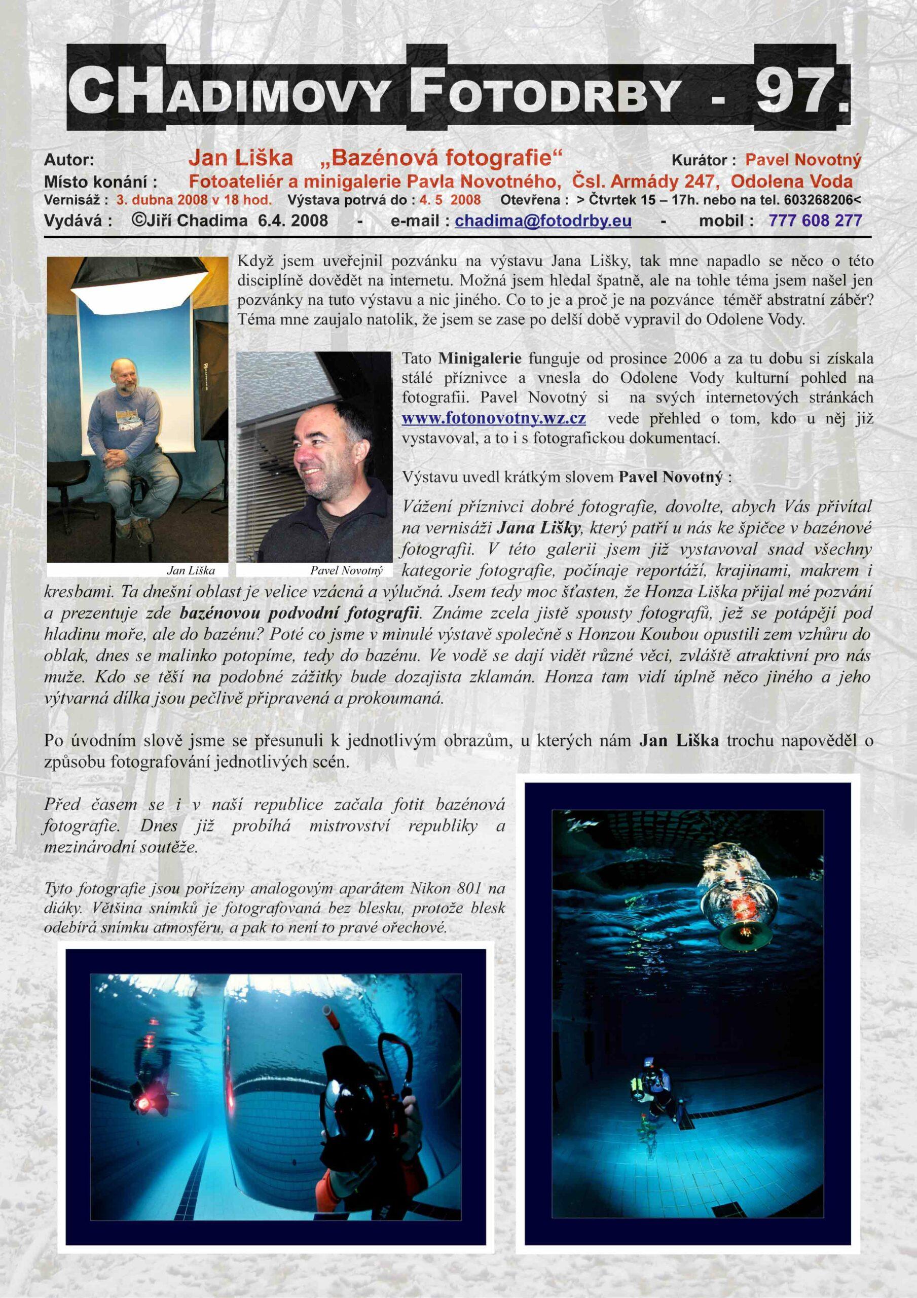 """Fotorevue 97 – Jan Liška """"Bazénová fotografie"""""""
