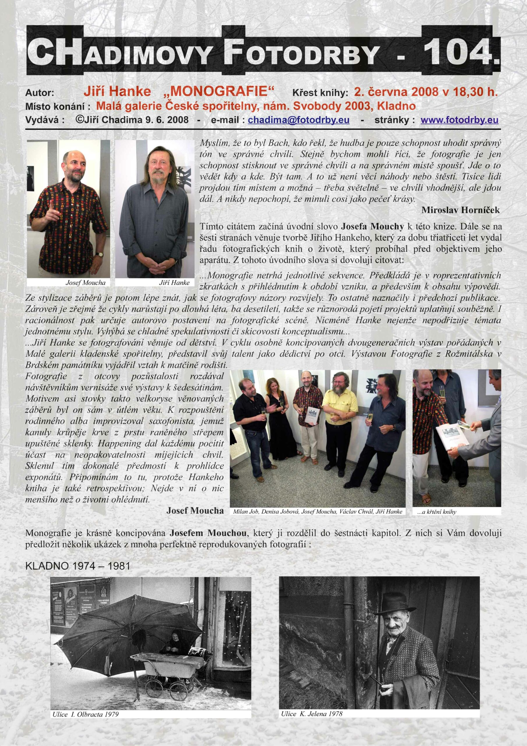 """Fotorevue 104 – Jiří Hanke """"Monografie"""""""