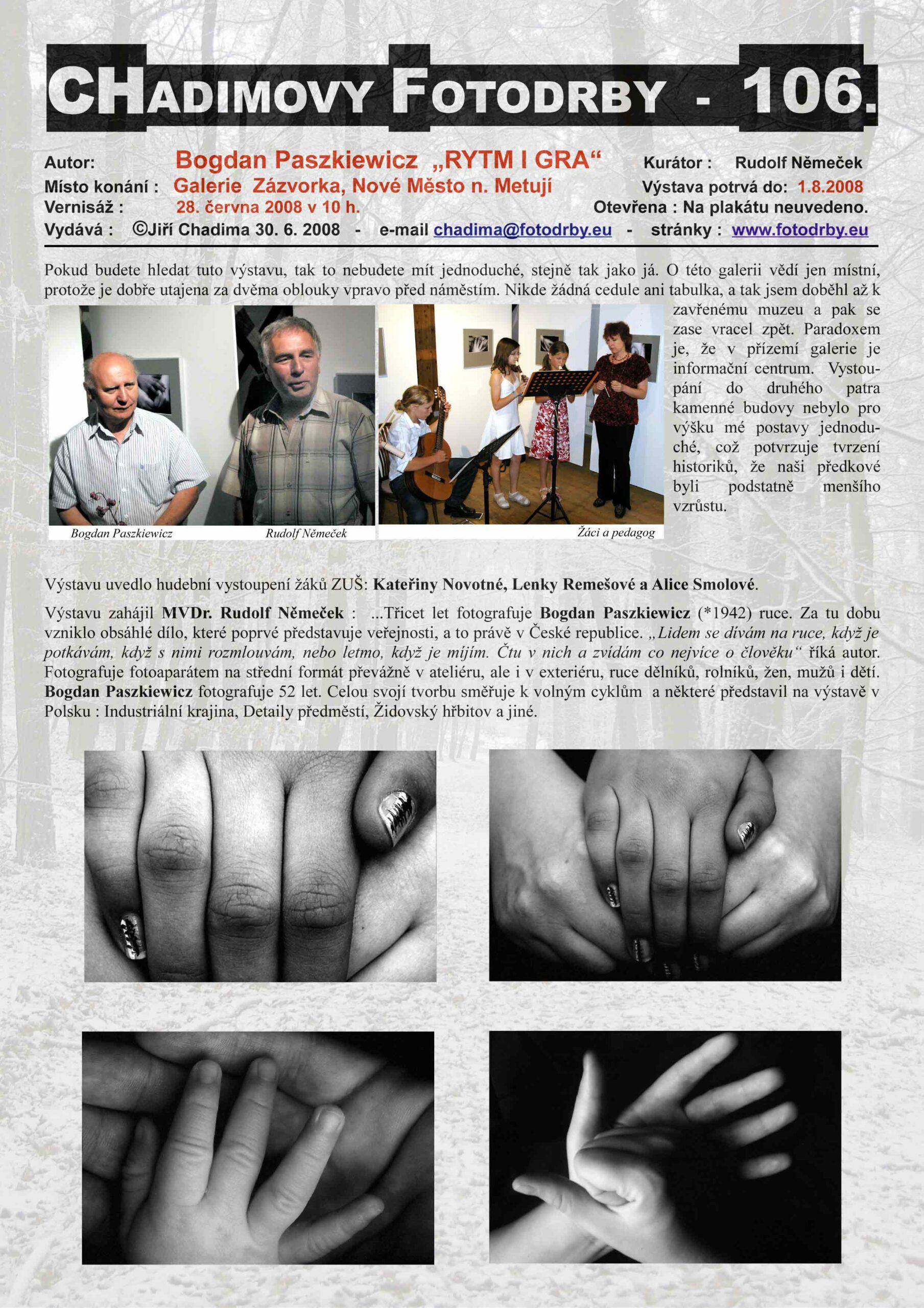 """Fotorevue 106 – Bogdan Paszkiewicz """"RYTM I GRA"""""""