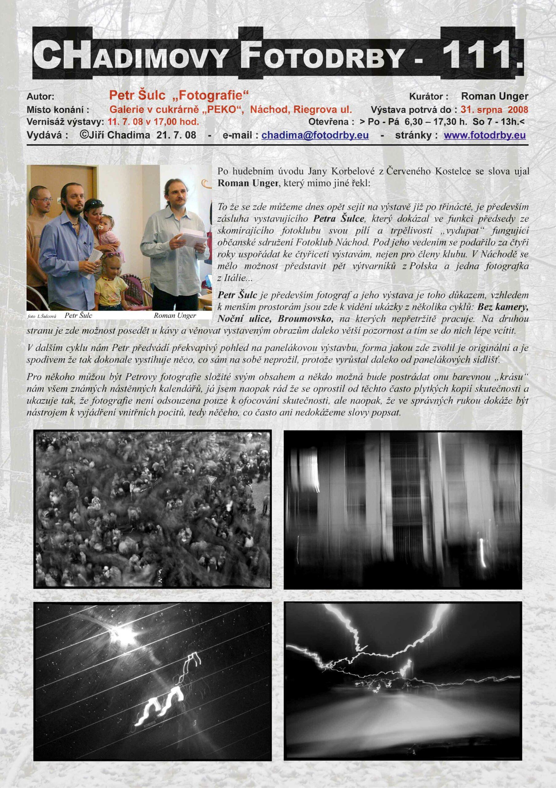 "Fotorevue 111 – Petr Šulc ""Fotografie"""