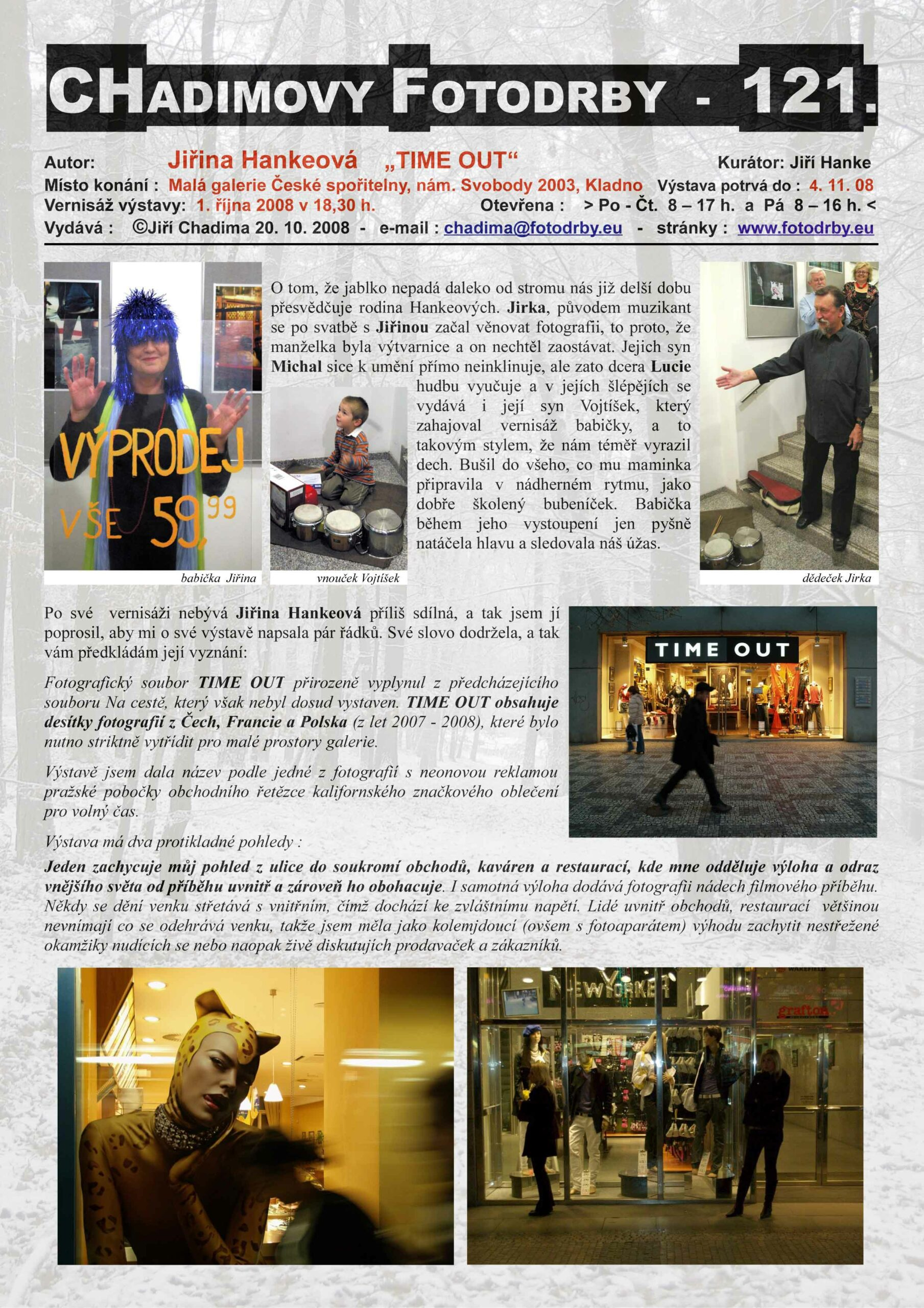 "Fotorevue 121 – Jiřina Hankeová ""TIME OUT"""