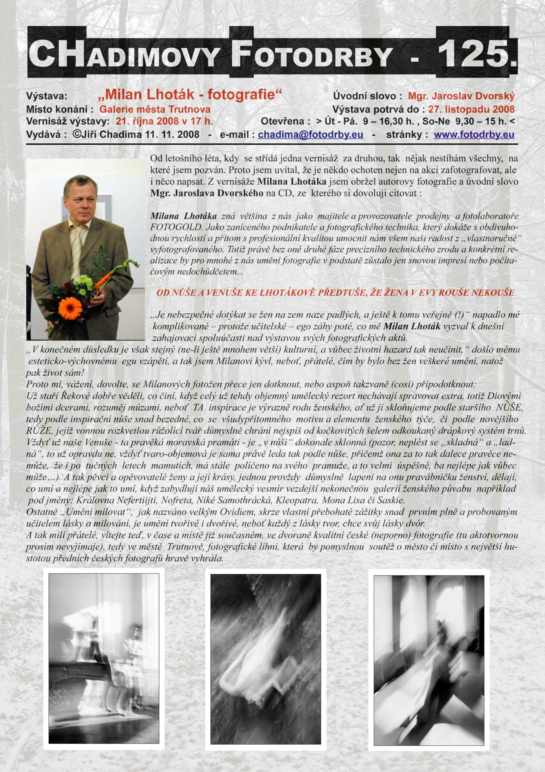 """Fotorevue 125 – Milan Lhoták  """"fotografie"""""""