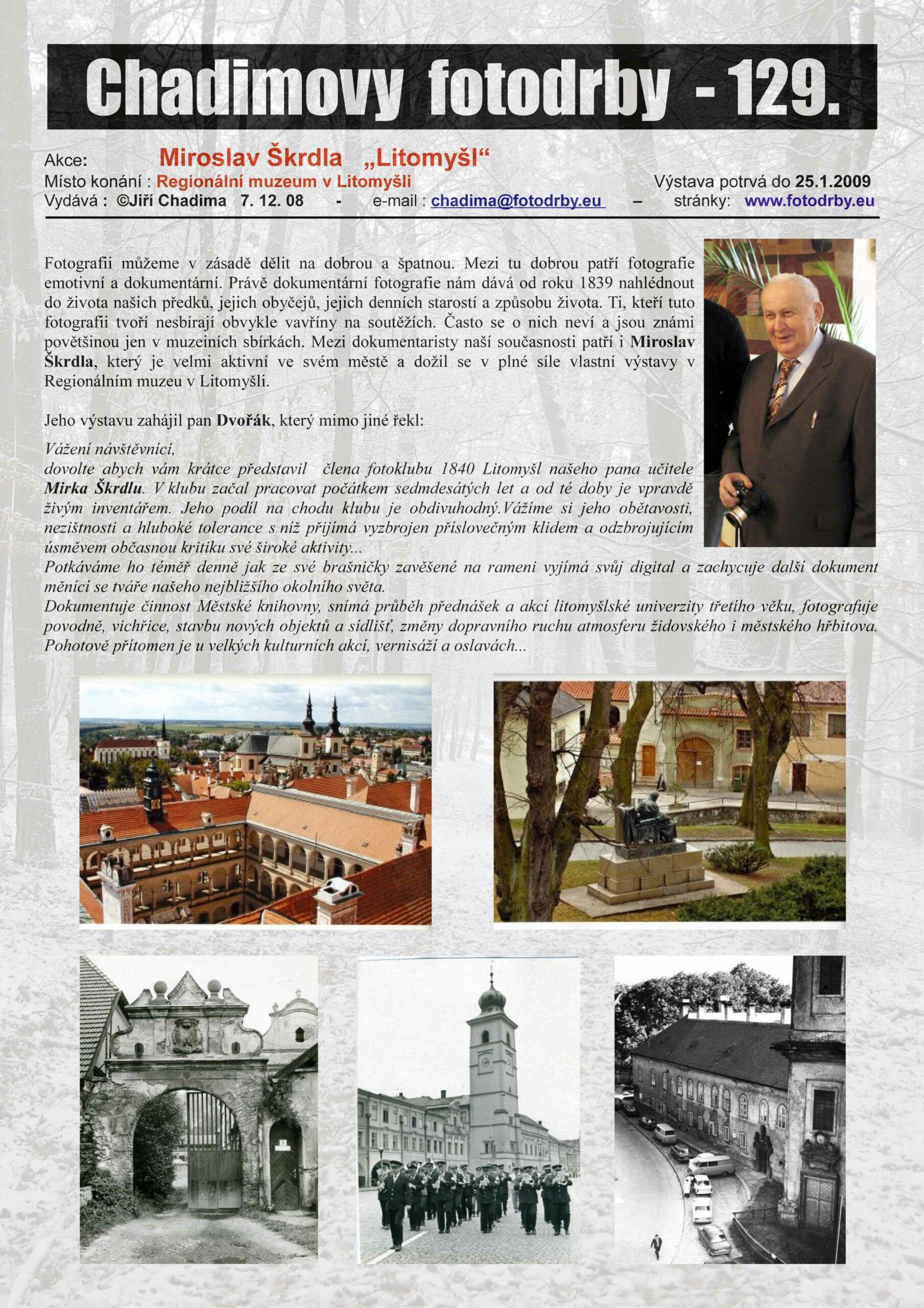 """Fotorevue 129 – Miroslav Škrdla """"Litomyšl"""""""