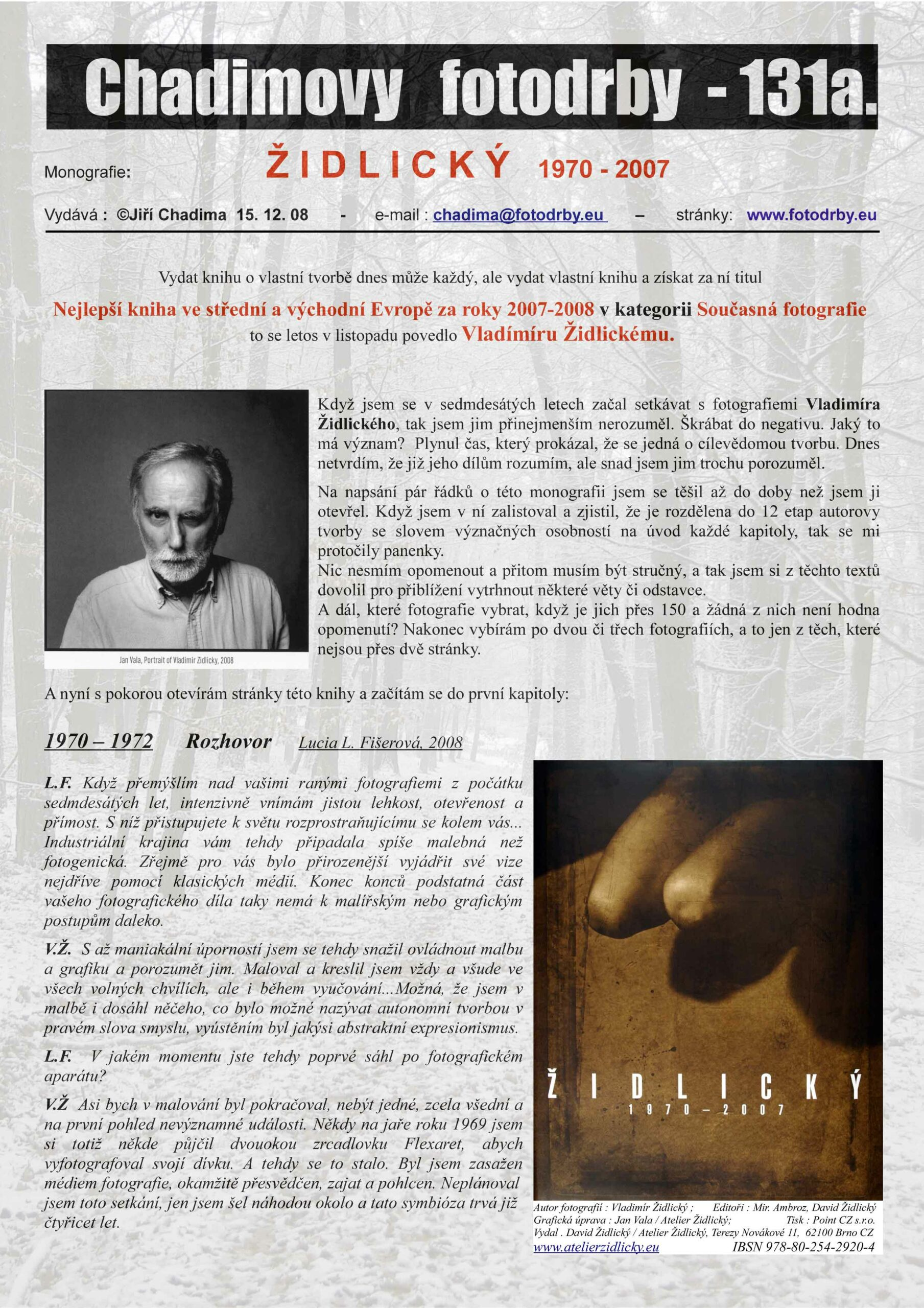 Fotorevue 131a – ŽIDLICKÝ (1970 – 2007)