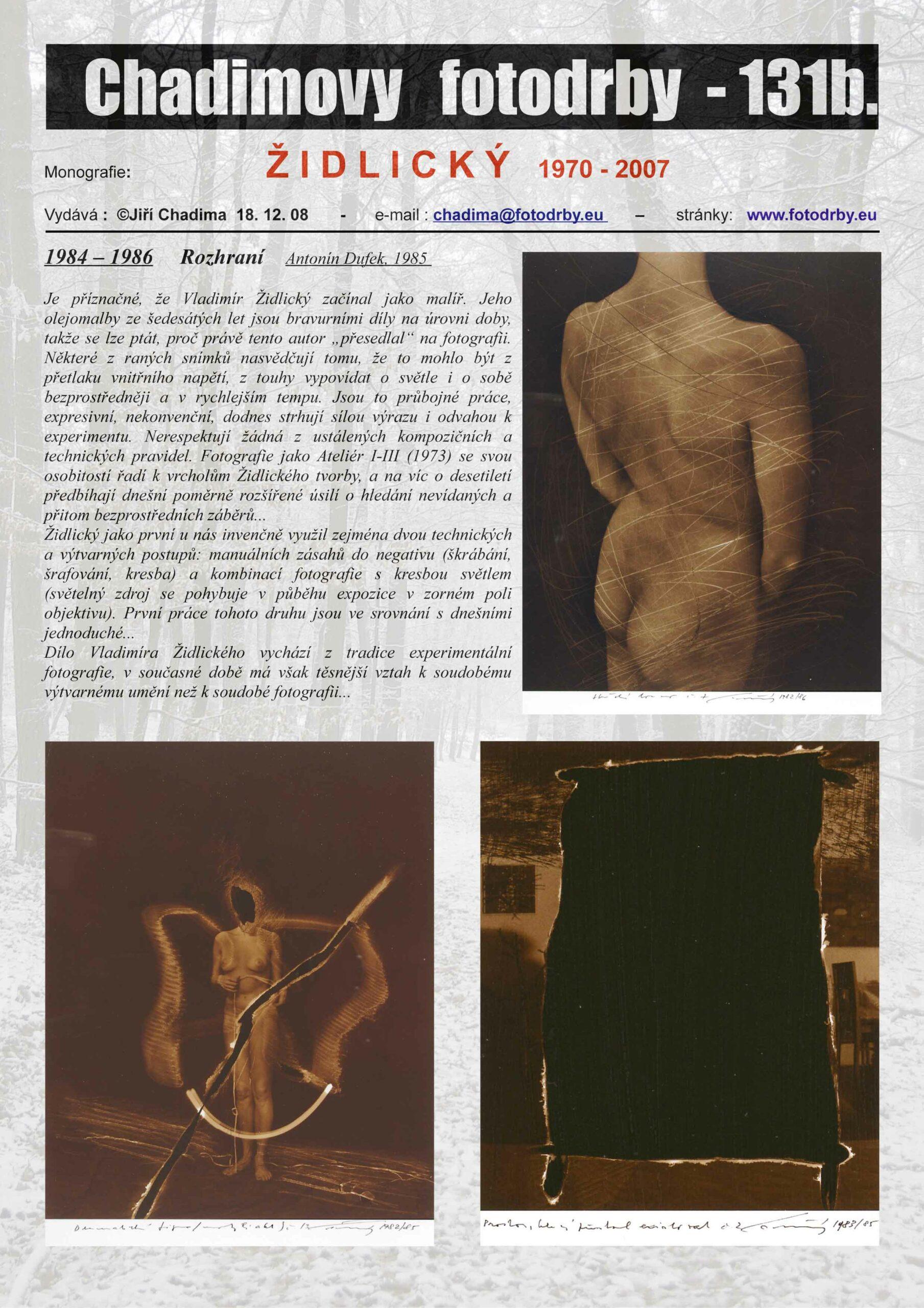 Fotorevue 131b – ŽIDLICKÝ (1970 – 2007)