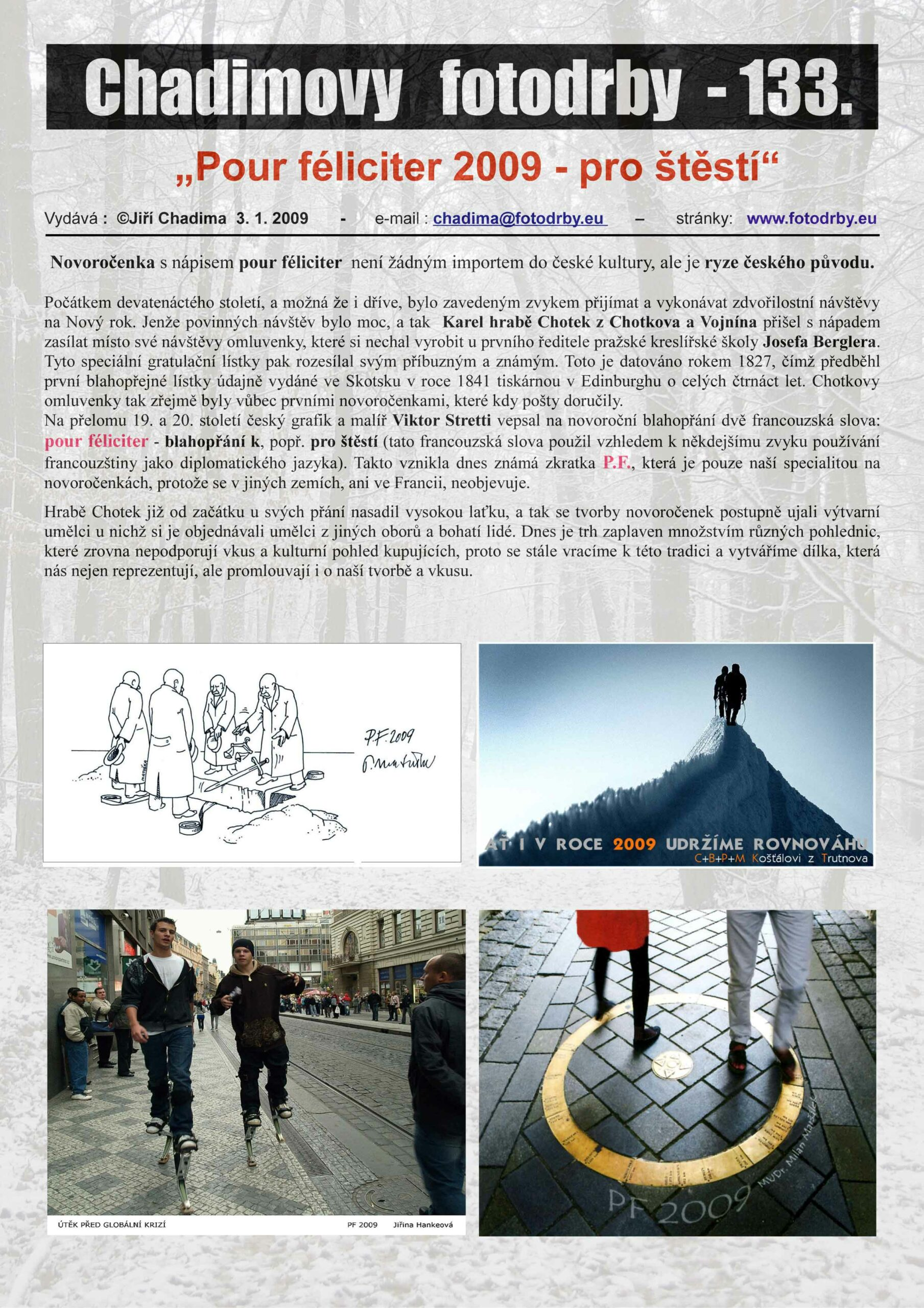 """Fotorevue 133 – """"Pour féliciter 2009 – pro štěstí"""""""